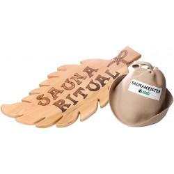 Sauna-Mütze Saunahut Saunaschild